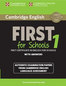 FIRST FCE FOR SCHOOLS 1 ST/BK W/ANSWERS
