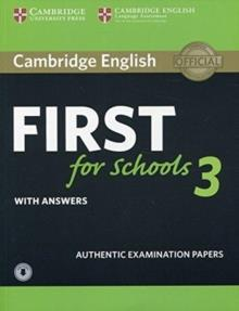 FIRST FCE FOR SCHOOLS 3 SELF STUDY PACK (ST/BK & W/ANSWERS & AUDIO)