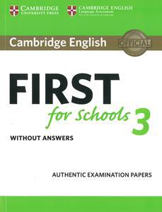 FIRST FCE FOR SCHOOLS 3 ST/BK