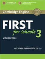FIRST FCE FOR SCHOOLS 3 ST/BK W/ANSWERS